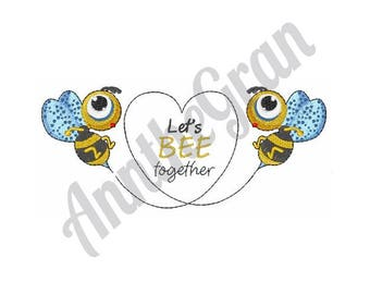 Bee Together - Machine Embroidery Design
