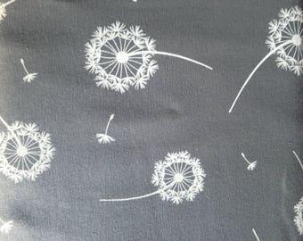 Grey dandelion seed jersey fabric, grey dandelion stretch knit fabric, grey dandelion jersey, 4 way stretch dandelion jersey knit fabric