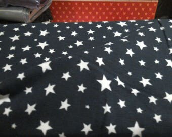 Star jersey, 4 way stretch jersey fabric, cotton lycra stars on navy jersey fabric, navy star knit