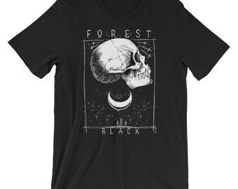 Forest Black Short-Sleeve Unisex T-Shirt