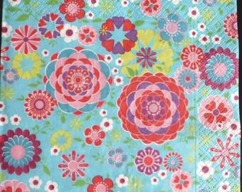 Multicolored paper towel