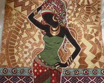 Weaving way African jacquard tapestry Panel