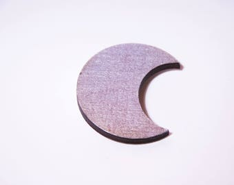 Silver and glittery Moon brooch