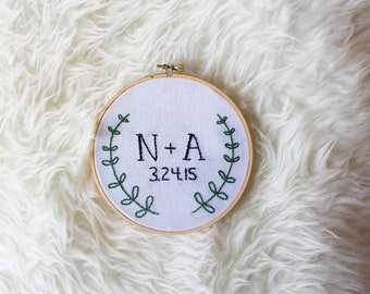 Anniversary Embroidery Hoop