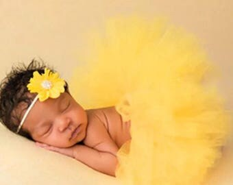 Solid Color Tutu with Matching Headband