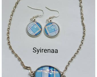 Madras necklace and earrings sets