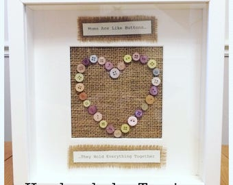 Personalised Button Frame