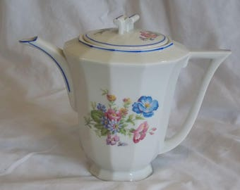 A Beautiful French Vintage Teapot, Floral Design.