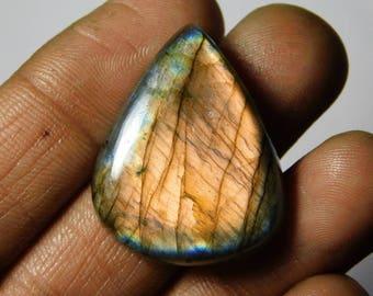 AAA quality Multi Purple Spectrolite Labradorite Excellent Cabochons Purple Flasy loose gemstone handmade gemstone 41.50cts (30x24x6)mm.