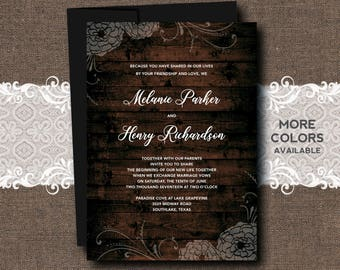 Country Wedding Invitation, Rustic Wedding Invitation, Rustic Barn Wedding Invitation, Rustic Country Wedding Invitation, Barn Wedding, Barn