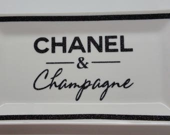 Chanel and Champagne - Chanel Tray - Chanel Ring Dish - Chanel Accessories - Chanel and Champagne Ring Holder