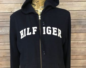 Tommy Hilfiger Spell Out Full Zip Hoodie (L)
