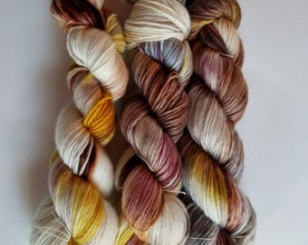 Worsted single ply merino hand dyed yarn indie dyed 225yards per 115g