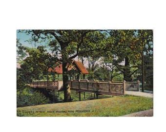 RHODE ISLAND: Lover's Retreat in Roger Williams Park, Providence - Vintage Postcard, ca. 1910
