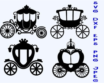 carriage  svg, carriage dxf, carriage silhouette, carriage clipart, t-shirts svg, scrapbooking svg, stickers svg, dxf, svg files, png files