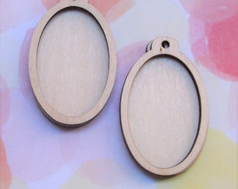 Mini frame, wood frame, oval frame, pendant mini frame, embroidery frame, wood mini frame, mini frame, mini wood frame, pendant,H4