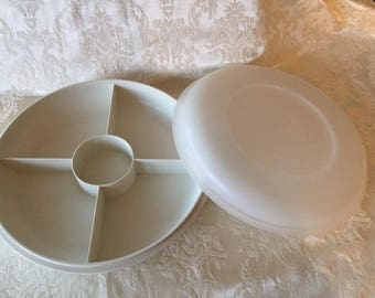 Vintage Tupperware Divided Container with Lid 1980s Vintage Tupperware Vintage Kitchen