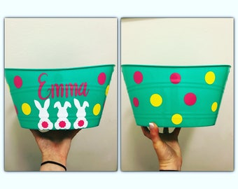 Custom Easter Tote Buckets