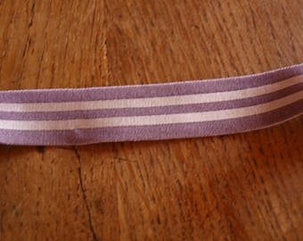lingerie elastic flat purple and light pink 17mm