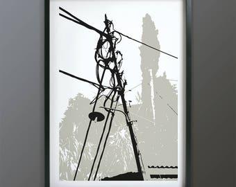 Telegraph Pole   01 art print