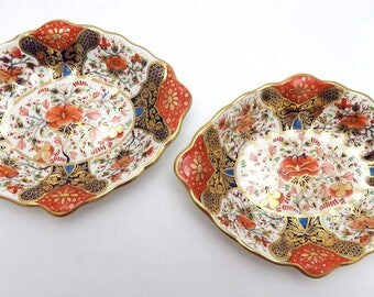Pair Early 19th Century English Porcelain Old Derby Serving Dishes/Bowls