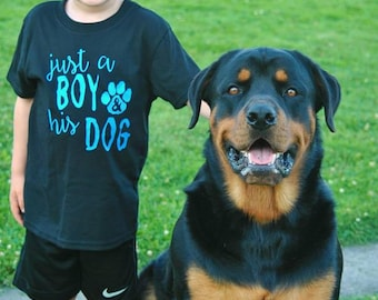 Just A Boy & His Dog Toddler Shirt - Dog Lover Shirt - Animal Lover Shirt - Pet Owner Shirt - Dog Shirt - Puppy Shirt - Animal Clothing