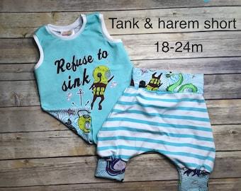 18-24m tank and harem shorts