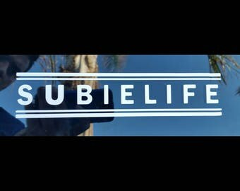 4 stripe border Subielife Decal