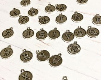 Silver initial charm, add on letter charm, add on initial charm, personalise jewellery, personalisation charm,