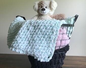 Plush Knit Baby Blanket - Nursery - Baby Shower Gift