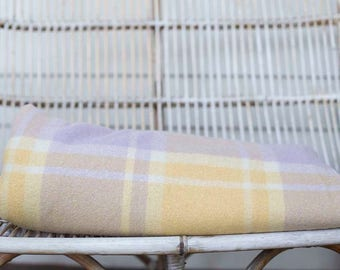 Vintage Wool Blanket, Free shipping, recycled, Queen bed , weighted blanket, Woolen blanket, upcycle wool blanket, vintage material