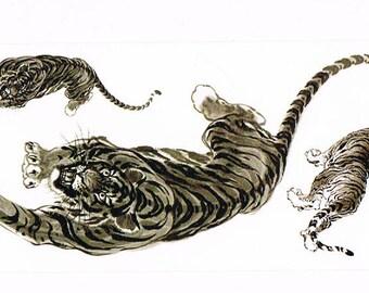 Animal temporary tattoos M107 19 X 9 CM