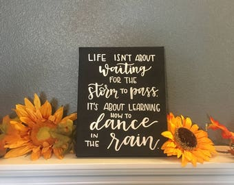 Custom Canvas, Completely Custom Canvas, 8x10 Canvas Painting, Handlettering, Calligraphy