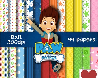Paw Patrol Digital Paper Kit Digital Patrulha Canina