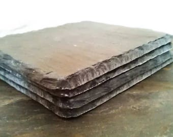 Reclaimed Welsh Slate Coasters