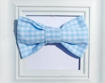 Baby blue bow tie, boys bow tie, light blue bow tie, Blue baby bow tie, Blue Bow Tie, Kids blue bow tie, Cotton bow tie, Easter kids bow tie