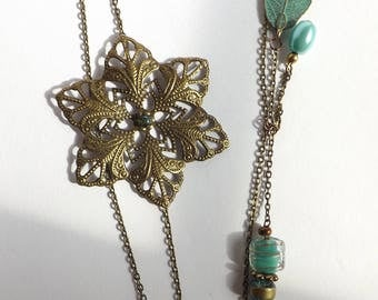 Brass and Turquoise BoHo Charm