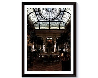 Interior Fine Art Photography. The Plaza Hotel, Manhattan, New York City. Framed Print for Wall Decor