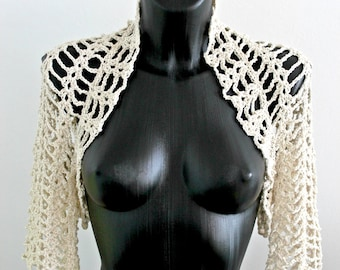 Crocheted bridal bolero, Wedding crochet shrug