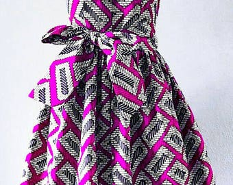 Knee length African print dress