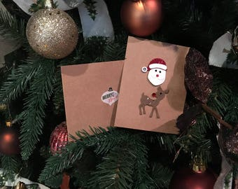 Santa & Deer