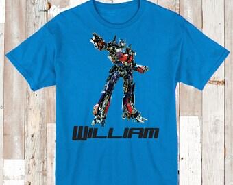 Transformers Custom Tee Tees T-shirt Optimus Prime Shirts Unique Transformers Birthday Shirt Optimus Prime Shirt Tee T-shirts for Kids, bb28