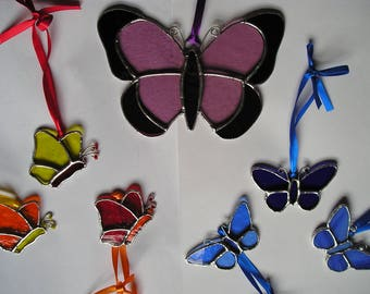 Stained Glass Butterfly, Suncatcher, Handmade in England
