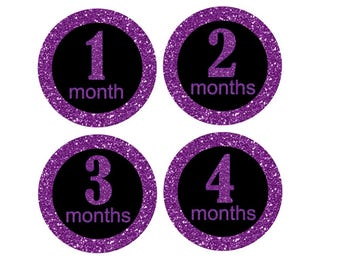 Girls and Glitter Monthly Stickers