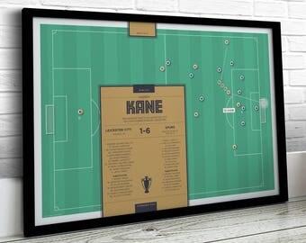 Football Print, Kane Print, Spurs Print, Football Gifts, Football Art