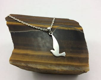 Sterling Silver Dove Necklace,  Bird  necklace, silver bird , Dove necklace, peace necklace sterling dove, sterling bird