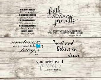 Faith Sayings SVG