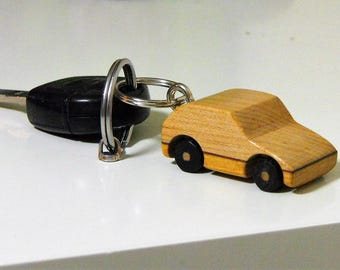 Wooden Car Keyring