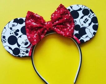 Mickey Mouse Ears    Mouse Ears     Mouse Ears    Mouse Ears Headband    Mickey Mouse Ears