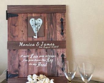 Rustic Wedding Guest Book, Alternative Wedding Guest Book, Guest Book Alternatives, Wedding Guest Book Alternative, Barn Door Mini Barn Door